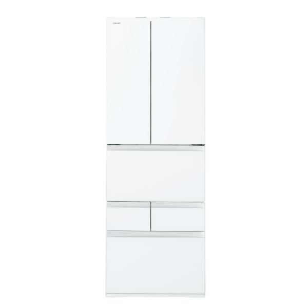 東芝 509L 6ドアノンフロン冷蔵庫 VEGETA クリアグレインホワイト GRP510FWUW [GRP510FWUW]【RNH】