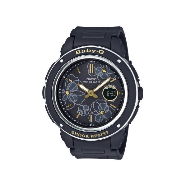 カシオ 腕時計 BABY-G Floral Dial Series ブラック BGA-150FL-1AJF [BGA150FL1AJF]