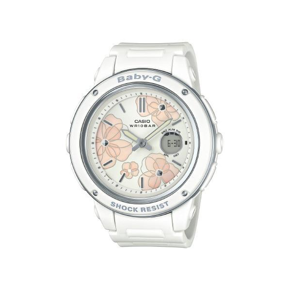 カシオ 腕時計 BABY-G Floral Dial Series ホワイト BGA-150FL-7AJF [BGA150FL7AJF]