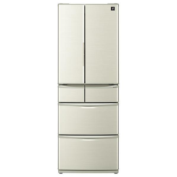 シャープ 455L 6ドアノンフロン冷蔵庫 プラズマクラスター冷蔵庫 シャンパンゴールド SJF461EN [SJF461EN]【RNH】