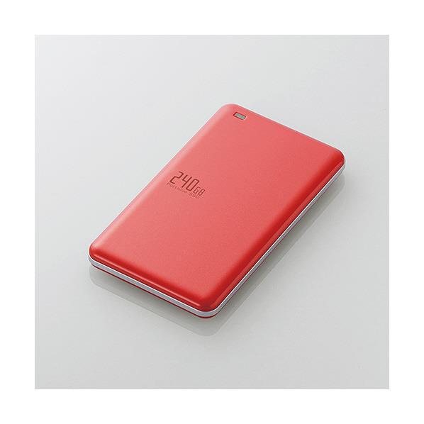 エレコム USB3.1(Gen1)対応外付けポータブルSSD(240GB) ESD-EDシリーズ レッド ESD-ED0240GRD [ESDED0240GRD]