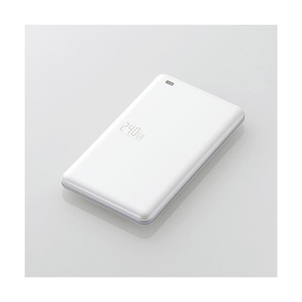 エレコム USB3.1(Gen1)対応外付けポータブルSSD(240GB) ESD-EDシリーズ ホワイト ESD-ED0240GWH [ESDED0240GWH]