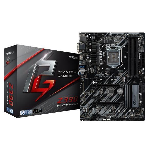 ASROCK ASRock LGA1151 Intel Z390 ATX ゲーミング マザーボード ASRock Z390 PHANTOM GAMING シリーズ Z390 PHANTOM GAMING 4 [Z390PHANTOMGAMING4]