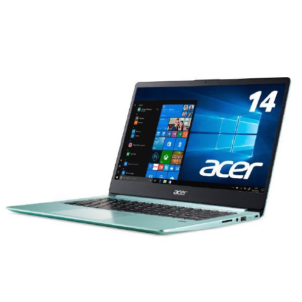 ACER モバイルノートパソコン Swift 1シリーズ アクアグリーン SF114-32-N14Q/G [SF11432N14QG]【RNH】