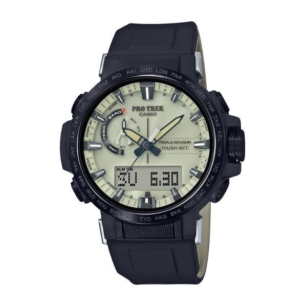 カシオ ソーラー電波腕時計 プロトレック クリーム・ブラック PRW-60YGE-1AJR [PRW60YGE1AJR]