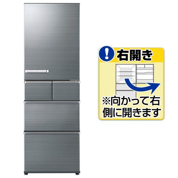 AQUA 【右開き】415L 5ドアノンフロン冷蔵庫 チタニウムシルバー AQR-SV42H(S) [AQRSV42HS]【RNH】