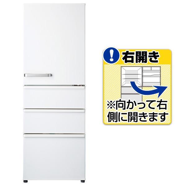 AQUA 【右開き】355L 4ドアノンフロン冷蔵庫 ナチュラルホワイト AQR-36G2(W) [AQR36G2W]【RNH】