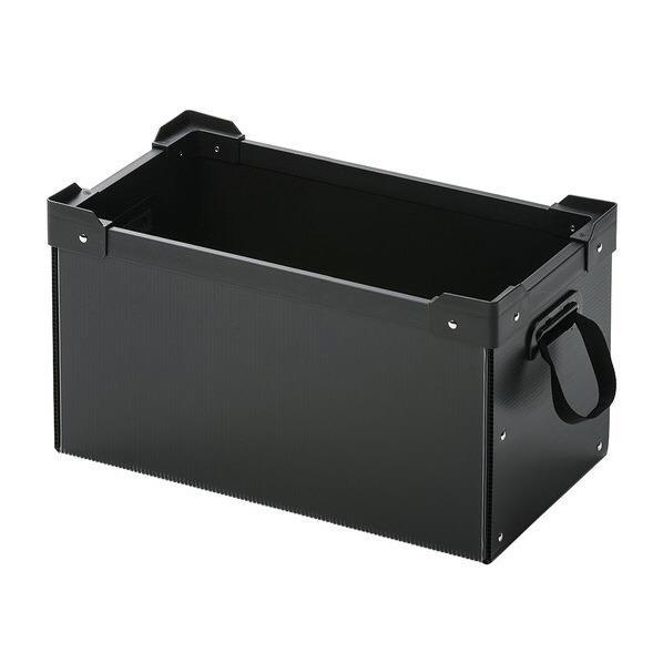 サンワサプライ プラダン製マルチ収納ケース ブラック PD-BOX2BK [PDBOX2BK]