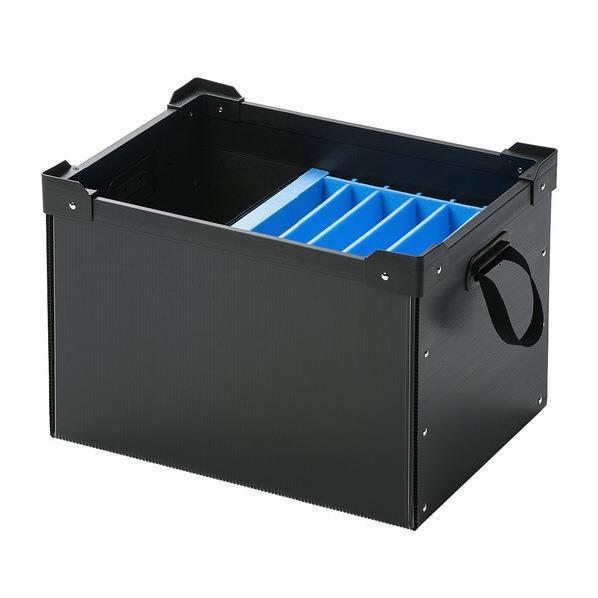 サンワサプライ プラダン製タブレット・ノートパソコン収納ケース(6台用) ブラック PD-BOX3BK [PDBOX3BK]