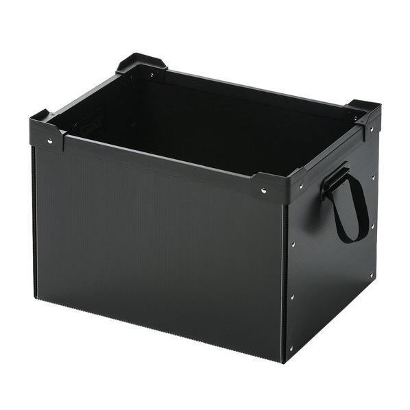 サンワサプライ プラダン製マルチ収納ケース ブラック PD-BOX4BK [PDBOX4BK]