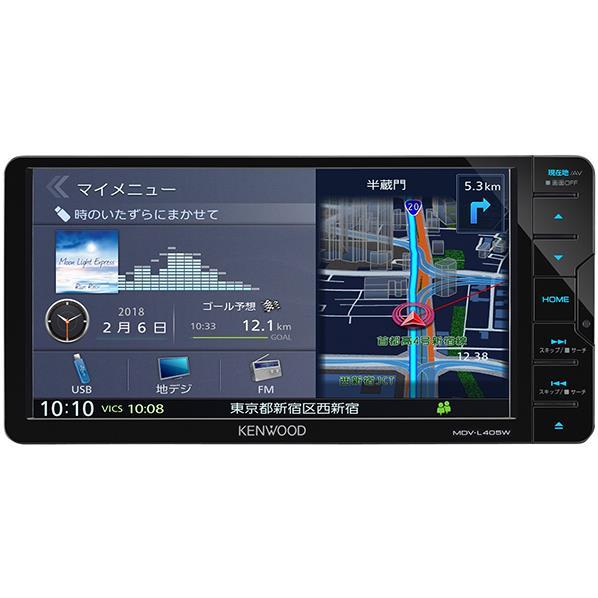 JVCケンウッド ワンセグTVチューナー内蔵 DVD/USB/SD/ AVナビゲーションシステム(200mmワイドモデル) 彩速ナビ MDV-L405W [MDVL405W]【RNH】