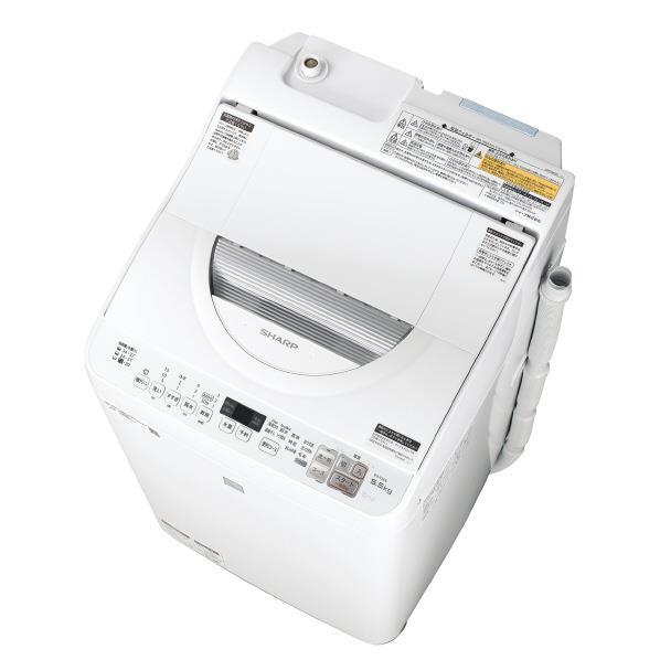 シャープ 5.5kg洗濯乾燥機 keyword キーワードホワイト EST5E6KW [EST5E6KW]【RNH】
