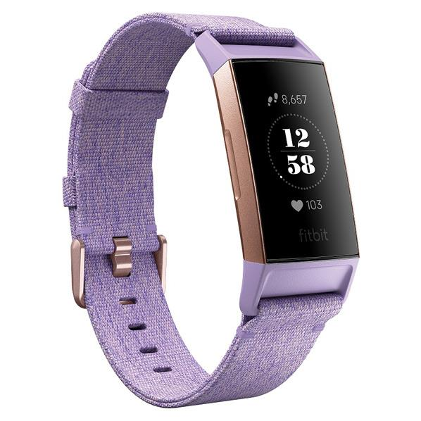 Fitbit フィットネストラッカー Charge3 Special Edition Lavender Woven/Rose Gold Aluminium L/Sサイズ ラベンダー ウーブンベルト/ローズゴールド FB410RGLV-CJK [FB410RGLVCJK]
