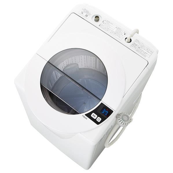 AQUA 8.0kg全自動洗濯機 SLASH シャイニーホワイト AQW-LV80G(W) [AQWLV80GW]【RNH】