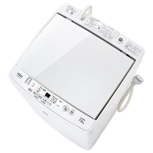 AQUA 7.0kg全自動洗濯機 keyword キーワードホワイト AQW-GP7E6(KW) [AQWGP7E6KW]【RNH】