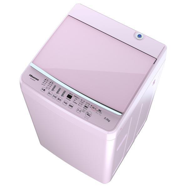 ハイセンス 5.5Kg全自動洗濯機 keyword ピンク HW-G55E5KP [HWG55E5KP]