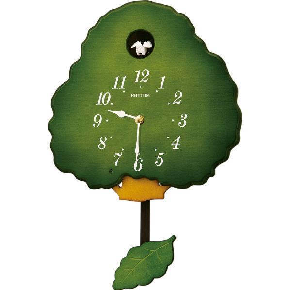 リズム時計 掛け時計 RHYTHM グレイスカッコー413R 緑半艶仕上げ(緑) 4MJ413RH05 [4MJ413RH05]【MVSP】