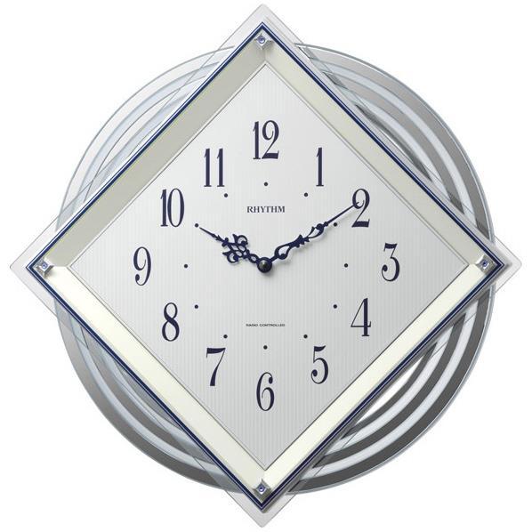 リズム時計 電波掛け時計 RHYTHM ビュレッタ 白 4MX405SR03 [4MX405SR03]