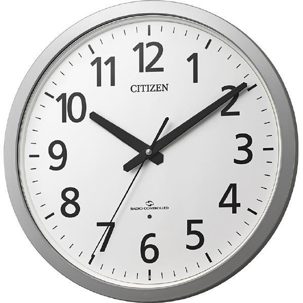 リズム時計 電波掛時計 CITIZEN シルバーメタルック 4MY855-019 [4MY855019]