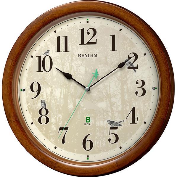 リズム時計 リズム時計 電波掛時計 電波掛時計 RHYTHM 茶色半艶仕上 8MN408SR06 8MN408SR06 [8MN408SR06], バームビューロ:0a93bd14 --- sunward.msk.ru
