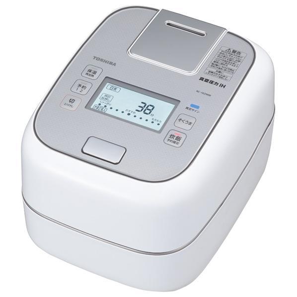 東芝 真空圧力IH炊飯ジャー(5.5合炊き) 圧力+真空 合わせ炊き グランホワイト RC-10ZWM(W) [RC10ZWMW]【RNH】
