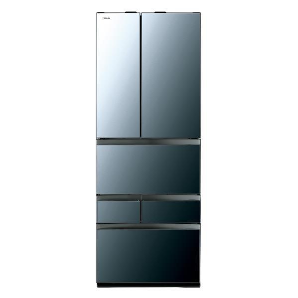 東芝 601L 6ドアノンフロン冷蔵庫 VEGETA クリアミラー GRR600FZXK [GRR600FZXK]【RNH】