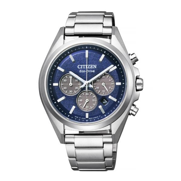 シチズン エコ・ドライブ腕時計 アテッサ スーパーチタニウム 青 CA4390-55L [CA439055L]