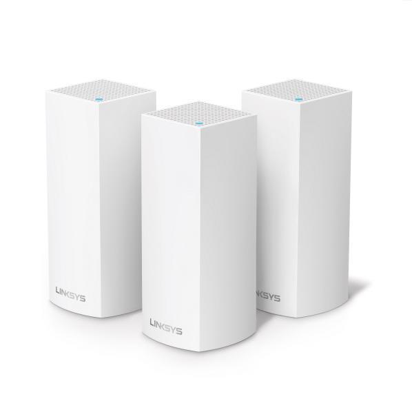 SALE 広いエリアに対応できるような3個パック Linksys メッシュWiFi無線LANルータートライバンド ※ラッピング ※ 3個パック VELOP WHW0303-JP ホワイト WHW0303JP