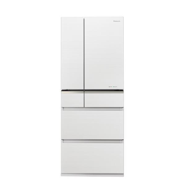 パナソニック 470L 6ドアノンフロン冷蔵庫 マチュアホワイト NR-F475XPV-W [NRF475XPVW]【RNH】