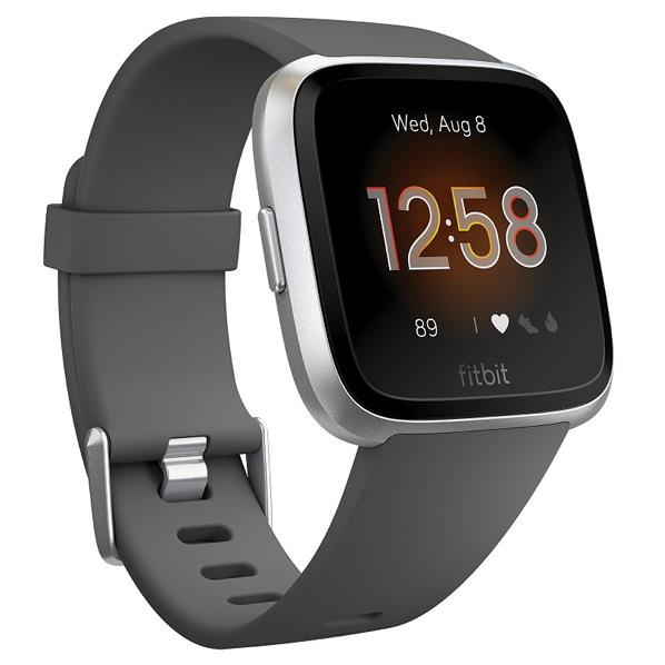 Fitbit スマートウォッチ Versa Lite Charcoal/Silver Alminum L/Sサイズ FB415SRGY-FRCJK [FB415SRGYFRCJK]