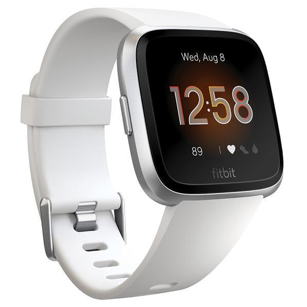 Fitbit スマートウォッチ Versa Lite White/Silver Alminum L/Sサイズ FB415SRWT-FRCJK [FB415SRWTFRCJK]