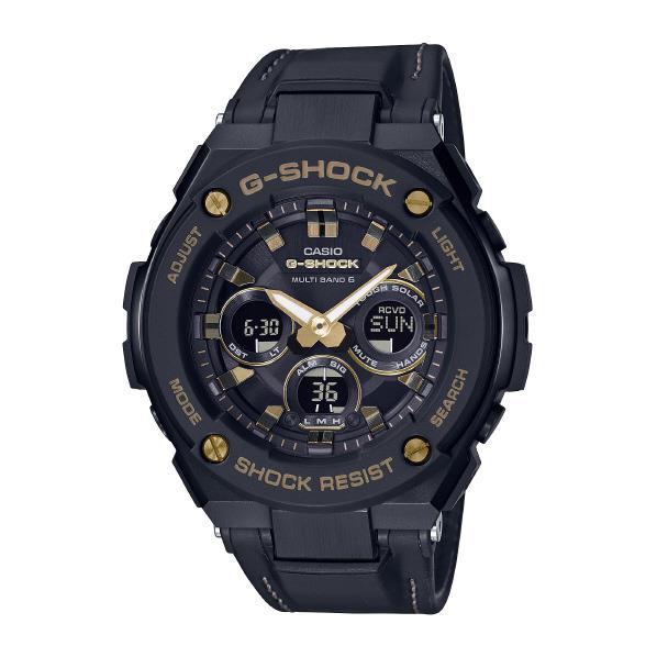 カシオ ソーラー電波腕時計 G-SHOCK G-STEEL ブラック GST-W300GL-1AJF [GSTW300GL1AJF]【MCPI】