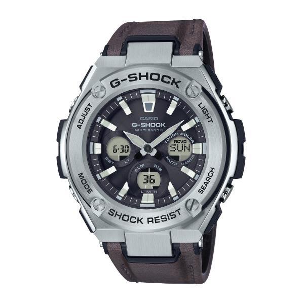 カシオ ソーラー電波腕時計 G-SHOCK G-STEEL シルバー GST-W330L-1AJF [GSTW330L1AJF]【MCPI】