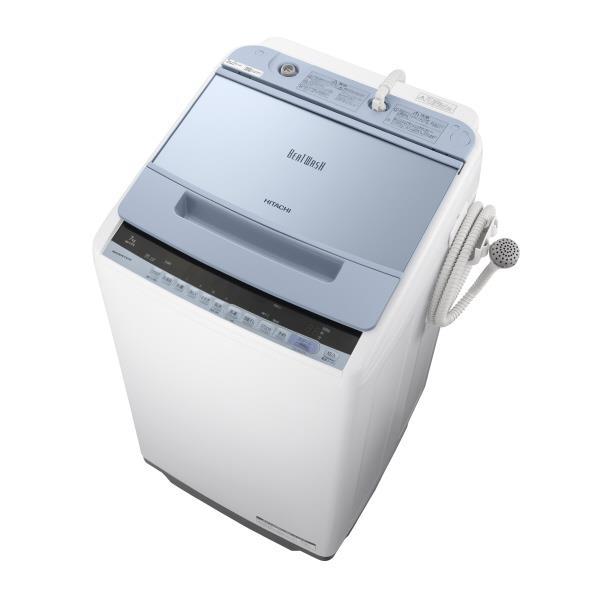 日立 7.0kg全自動洗濯機 ビートウォッシュ ブルー BWV70CA [BWV70CA]【RNH】