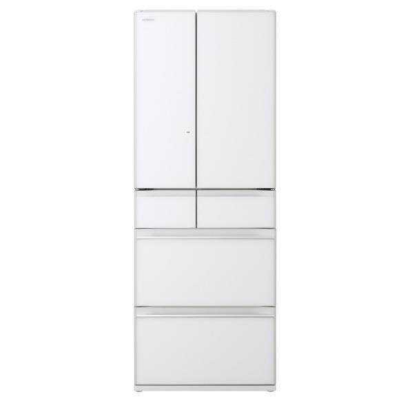 日立 567L 6ドアノンフロン冷蔵庫 クリスタルホワイト R-KW57K XW [RKW57KXW]【RNH】