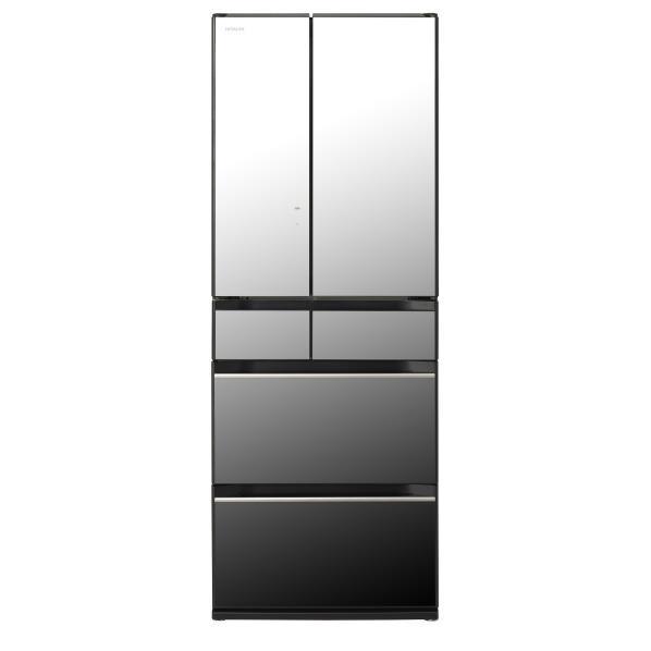 日立 567L 6ドアノンフロン冷蔵庫 クリスタルミラー R-KX57K X [RKX57KX]【RNH】