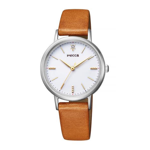 シチズン ソーラーテック腕時計 ウィッカ 白 KP5-115-10 [KP511510]