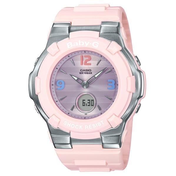 カシオ ソーラー電波腕時計 BABY-G Retro Tricolor ピンク BGA1100TR4BJF [BGA1100TR4BJF]【MCPI】