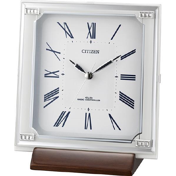 リズム時計 電波置き掛け兼用時計 CITIZEN(シチズン) 白 4RY712-003 [4RY712003]