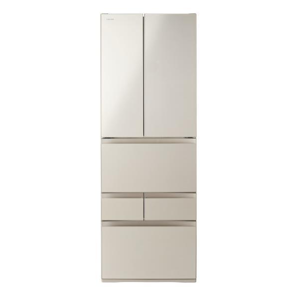 東芝 509L 6ドアノンフロン冷蔵庫 VEGETA サテンゴールド GRR510FHEC [GRR510FHEC]【RNH】