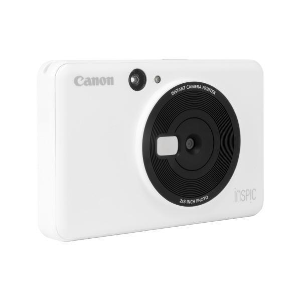 キヤノン カメラ付きコンパクトフォトプリンタ iNSPiC ホワイト CV123WH [CV123WH]【RNH】