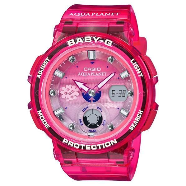 カシオ 腕時計 BABY-G レッド(スケルトン) BGA-250AQ-4AJR [BGA250AQ4AJR]