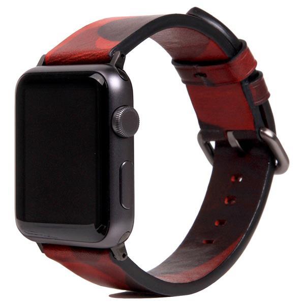 SLG Design Apple Watch 42/44mm用バンド Italian Camo Leather レッド SD16047AW [SD16047AW]