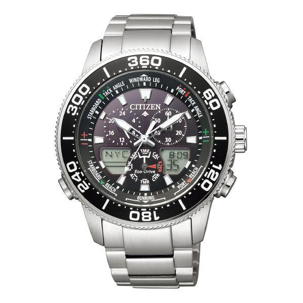 シチズン 腕時計 エコ・ドライブ プロマスター MARINEシリーズ ヨットタイマー 黒 JR4060-88E [JR406088E]