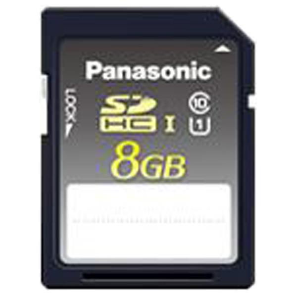 パナソニック MLC NANDフラッシュ搭載 SDHCカード GD シリーズ RP-SDGD08SWA [RPSDGD08SWA]
