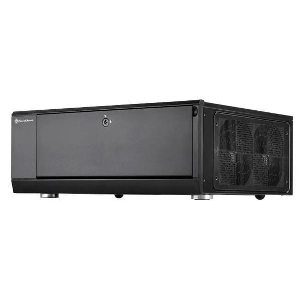 SilverSton 大型AT×マザーボード対応ケース ブラック SST-GD10B [SSTGD10B]