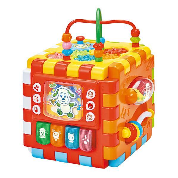 お子様の成長に合わせて色々な遊び方が楽しめるビジーボックス! ジョイパレット ワンワンとうーたん 手あそびいっぱい! くみたてへんしん☆わくわくボックスDX クミタテヘンシンワクワクボツクスDX [クミタテヘンシンワクワクボツクスDX]