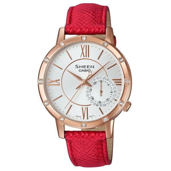 カシオ 腕時計 SHEEN レッド SHE-3046GLP-7BJF [SHE3046GLP7BJF]