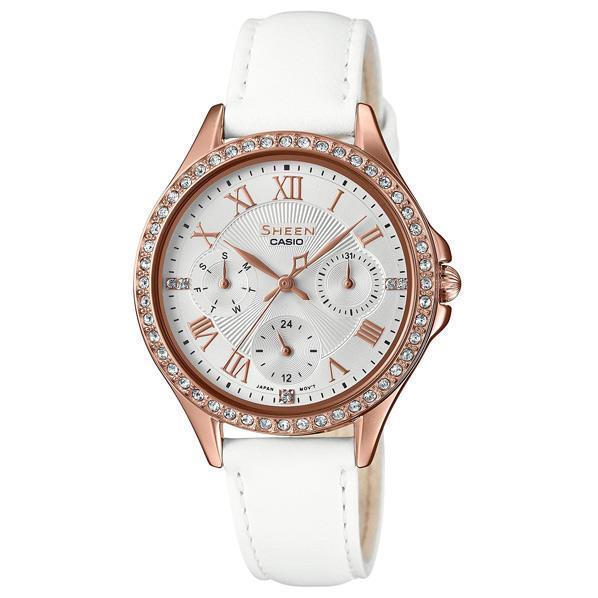 カシオ 腕時計 SHEEN ホワイト SHE-3062PGL-7AJF [SHE3062PGL7AJF]