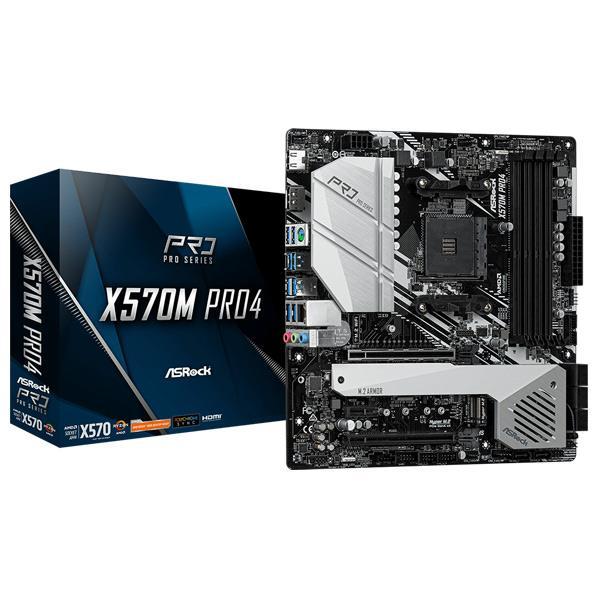 AMD 受注生産品 X570搭載 新RyzenのスリムPC向けMicroATXモデル ストアー ASROCK ASRock SocketAM4 X570 X570MPRO4 X570M PRO4 MicroATX Pro4 マザーボード